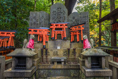 Fox sculpture in Fushimi Inari Shrine, Kyoto, Japan Royalty Free Stock Images