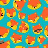 Fox seamless pattern. foxes ornament. Texture of fabric for baby.  Royalty Free Stock Photo