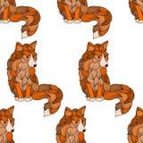 Fox sem emenda do teste padrão, cão ou lobo das ondas Foto de Stock