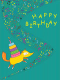 Fox Send Cake_eps Royalty Free Stock Images