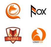 Fox. Set of fox logos, badges and design elements royalty free illustration
