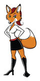 Fox sexy standing Stock Images