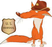 Fox the sheriff Royalty Free Stock Image