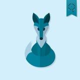 Fox. Single Flat Autumn Icon Stock Photo