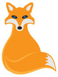 Fox Sitting Vector Illustration Royalty Free Stock Images