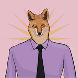 Fox. Sly fox in a shirt with a tie Royalty Free Stock Photo