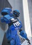 Fox-Sport übertrug Satz auf Times Square während der Woche des Super Bowl XLVIII in Manhattan Stockfotografie