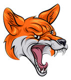 Fox sports mascot. An illustration of a fox animal sports mascot cartoon character head Royalty Free Stock Images