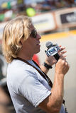 Fox Sports reporter at Dakar 2013 Royalty Free Stock Image