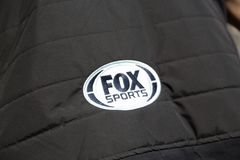 Fox sports, sponsor at Formula E Championship stock images