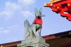 Fox statue in the Fushimi Inari Shrine Royalty Free Stock Images