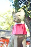 Fox statue at Fushimi Inari shrine in Kyoto. Japan Stock Images