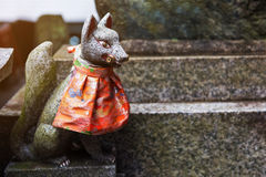 Fox statue at Fushimi Inari Shrine,  Kyoto Stock Photography
