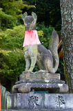 Fox statue in Japanese shrine Stock Photo