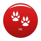 Fox step icon vector red. Fox step icon. Simple illustration of fox step vector icon for any design red stock illustration