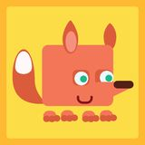 Fox stylized icon symbol Stock Photos