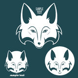 Fox symbol. Vector illustration of fox background Royalty Free Illustration