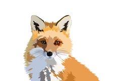 Fox sztuki projekta Wektorowy portret royalty ilustracja