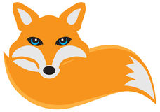 Fox with Tail vector Illustration Stock Photo