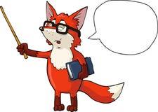 Fox teacher. With a pointer illustration Stock Photos