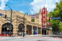 Fox teatro 4 de agosto de 2014 en Atlanta Imagen de archivo