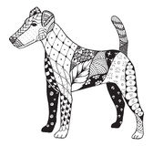 Fox terrier zentangle stylized, vector, illustration, freehand  Royalty Free Stock Photography