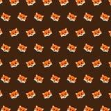 Fox - teste padrão 50 do emoji ilustração stock