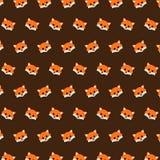 Fox - teste padrão 43 do emoji ilustração stock