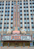 Fox theater in Detroit, MI Royalty Free Stock Images