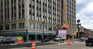 Fox-Theater in Detroit Michigan 4K stock footage