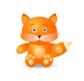 Fox toy icon Royalty Free Stock Photo