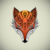 Fox tribal ilustración del vector