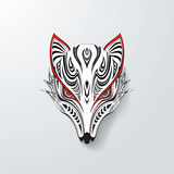 Fox tribal branco ilustração do vetor