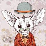 Fox vector card. Royalty Free Stock Photos