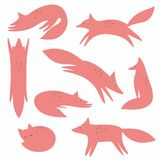 A Fox. Vector collection for your design. Stylized fox. Vector collection for your design Stock Photos
