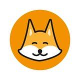 Fox vector icon. Fox logo. Cute Fox. Fox design. Fox flat. Fox in circle. Fox art. Fox head. Orange Fox Icon vector illustration