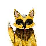 Fox vermelho ilustração royalty free