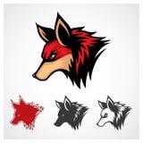 Fox vermelho do vetor imagem de stock