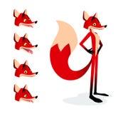 Fox vermelho dos desenhos animados Fotos de Stock