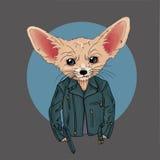 Fox vestido para arriba en estilo punky Imagenes de archivo