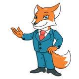 Fox w biurowym kostiumu Zdjęcia Stock