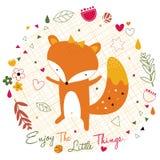 Fox w dżungli ilustraci Zdjęcia Stock