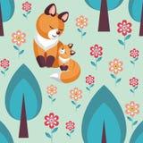Fox w drewnach ilustracja wektor
