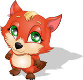 Fox. Which costs on a white background royalty free illustration