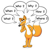 Fox who asks questions Royalty Free Stock Image