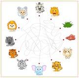 Fox, wolf, sheep, lamb, lion, zebra, donkey, tiger, elephant, co Royalty Free Stock Photography