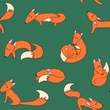 Fox wzór Zdjęcia Stock