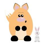 Fox y conejo sorprendidos Fotografía de archivo libre de regalías