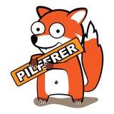 Fox złodzieja logo Zdjęcie Stock