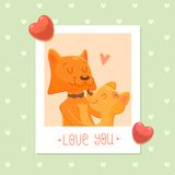 Foxes - cartoon characters Stock Photo